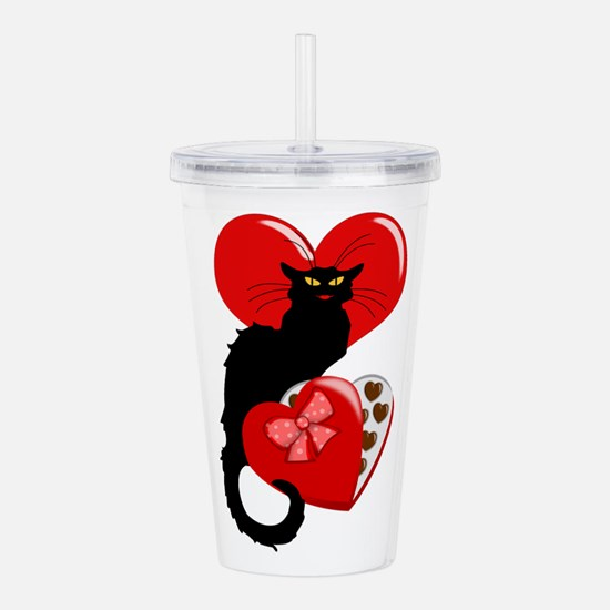 Le Chat Noir with Choc Acrylic Double-wall Tumbler
