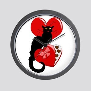 Le Chat Noir with Chocolate Candy Gift Wall Clock