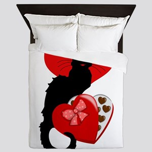 Le Chat Noir with Chocolate Candy Gift Queen Duvet