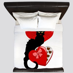 Le Chat Noir with Chocolate Candy Gift King Duvet