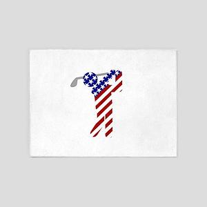 USA Mens Golf 5'x7'Area Rug