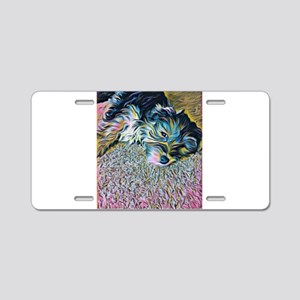 Penny the Yorkipoochi Aluminum License Plate
