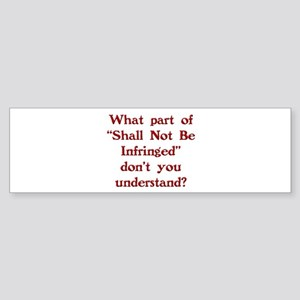 Shall Not Sticker (Bumper)