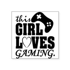 This Girl Loves Gaming Sticker