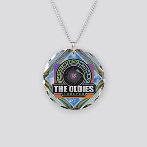 Oldies Forever Necklace Circle Charm