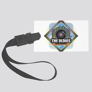 Oldies Forever Large Luggage Tag