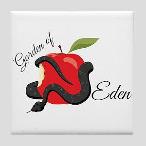 Garden Of Eden Tile Coaster