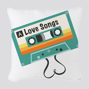 Love Songs Woven Throw Pillow