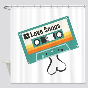 Love Songs Shower Curtain