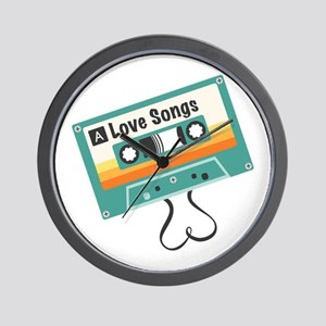 Love Songs Wall Clock