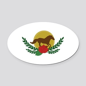 Derby Day Logo Oval Car Magnet