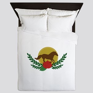 Derby Day Logo Queen Duvet