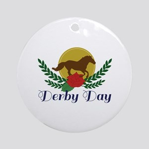 Derby Day Round Ornament