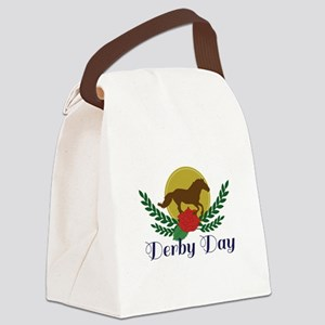 Derby Day Canvas Lunch Bag