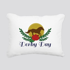 Derby Day Rectangular Canvas Pillow