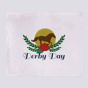 Derby Day Throw Blanket