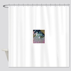 Penny the Yorkipoochi Shower Curtain