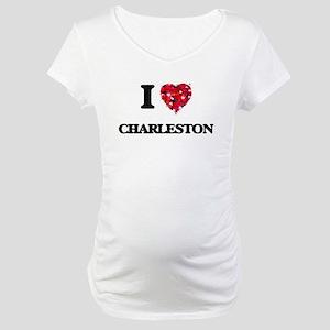 I love Charleston South Carolina Maternity T-Shirt