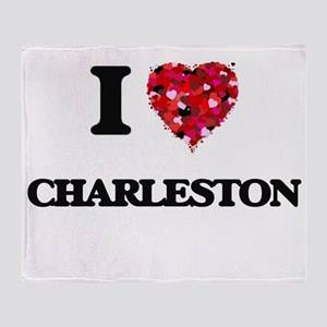 I love Charleston South Carolina Throw Blanket
