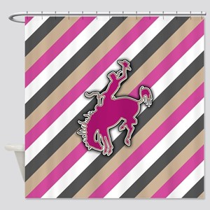 Cowgirl Riding Bucking Bronco Western Rodeo Design