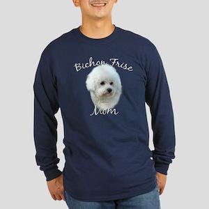 Bichon Mom2 Long Sleeve Dark T-Shirt