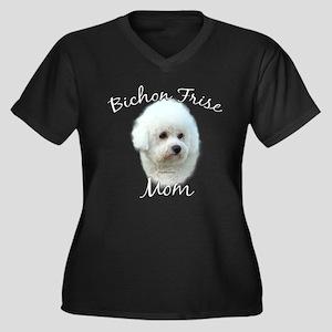 Bichon Mom2 Women's Plus Size V-Neck Dark T-Shirt