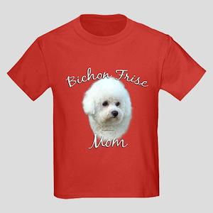 Bichon Mom2 Kids Dark T-Shirt