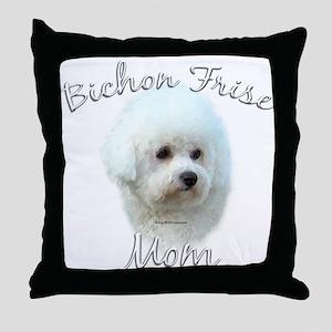 Bichon Mom2 Throw Pillow