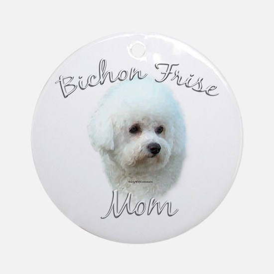 Bichon Mom2 Ornament (Round)