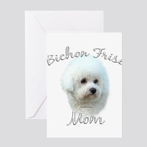 Bichon Mom2 Greeting Card