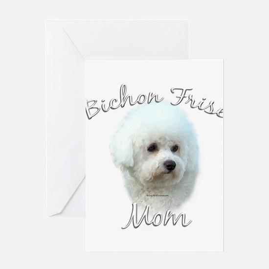 Bichon Mom2 Greeting Card