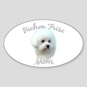 Bichon Mom2 Oval Sticker