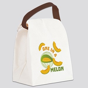 One In A Melon Canvas Lunch Bag