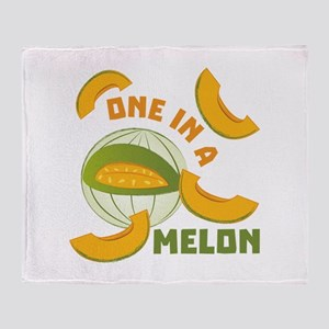 One In A Melon Throw Blanket
