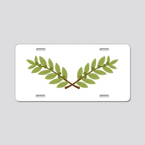 Olive Branches Aluminum License Plate