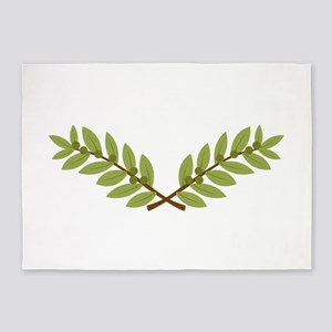 Olive Branches 5'x7'Area Rug