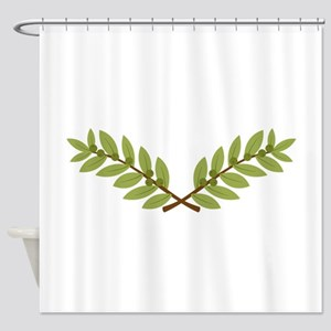 Olive Branches Shower Curtain