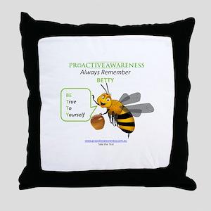 Always Remember BETTY Throw Pillow