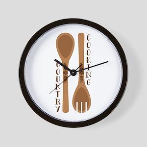 Food Family Faith Wall Clock