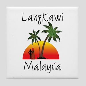 Langkawi Malaysia Tile Coaster