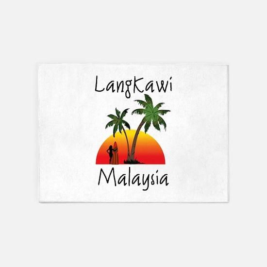 Langkawi Malaysia 5'x7'Area Rug