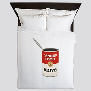 Canned Food Drive Queen Duvet