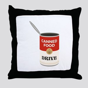 Canned Food Drive Throw Pillow