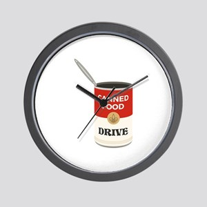 Canned Food Drive Wall Clock