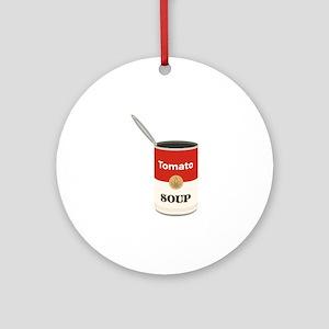 Tomato Soup Round Ornament