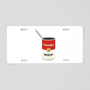 Tomato Soup Aluminum License Plate