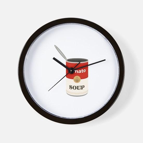 Tomato Soup Wall Clock