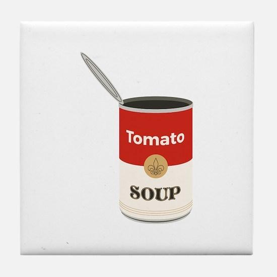 Tomato Soup Tile Coaster