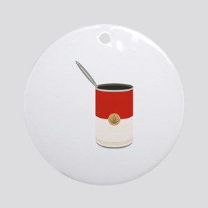 Campbells Soup Can Round Ornament