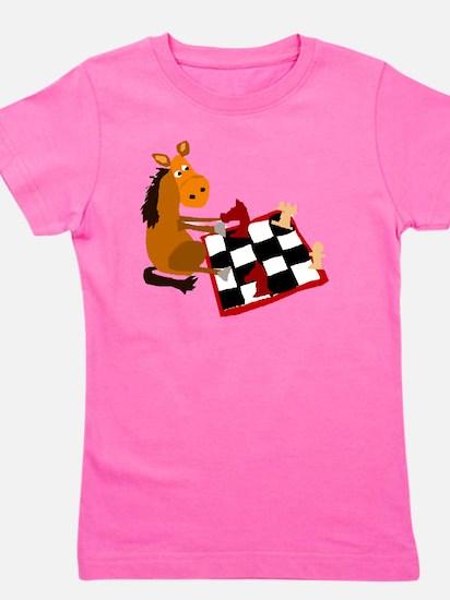 Cute Chess knight Girl's Tee